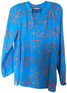 Lilly Pulitzer Elsa Coral Top turquoise