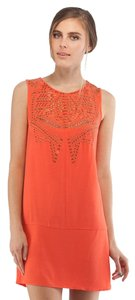 Cynthia Vincent short dress Orange Mini Top on Tradesy