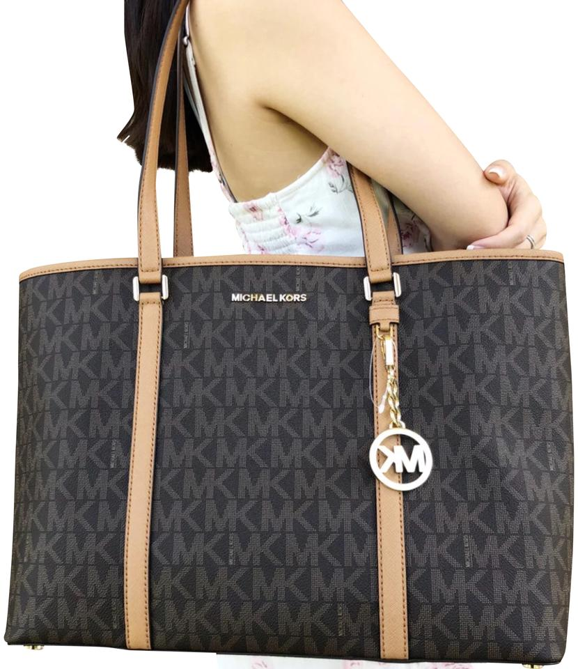 c408998d91d1 Michael Kors Sady Large Mk Brown Leather Tote - Tradesy