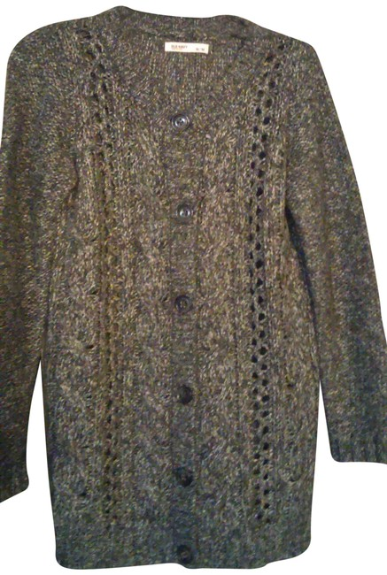 Old Navy Button Front Gray Sweater Old Navy Button Front Gray Sweater Image 1