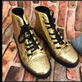 Gucci Gold Black Glitter Sneakers Size US 7 Regular (M, B) Gucci Gold Black Glitter Sneakers Size US 7 Regular (M, B) Image 1
