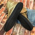 Gucci Gold Black Glitter Sneakers Size US 7 Regular (M, B) Gucci Gold Black Glitter Sneakers Size US 7 Regular (M, B) Image 2