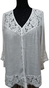 Zac & Rachel Lace Extra Large Top white