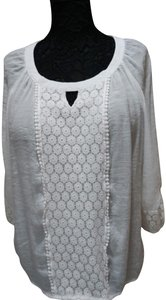 Zac & Rachel Coverup Extra Large Top white