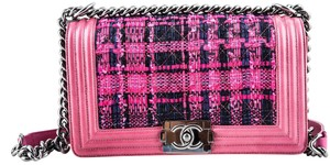Chanel Limited Edition Chevre Tweed Front Flap Cross Body Bag