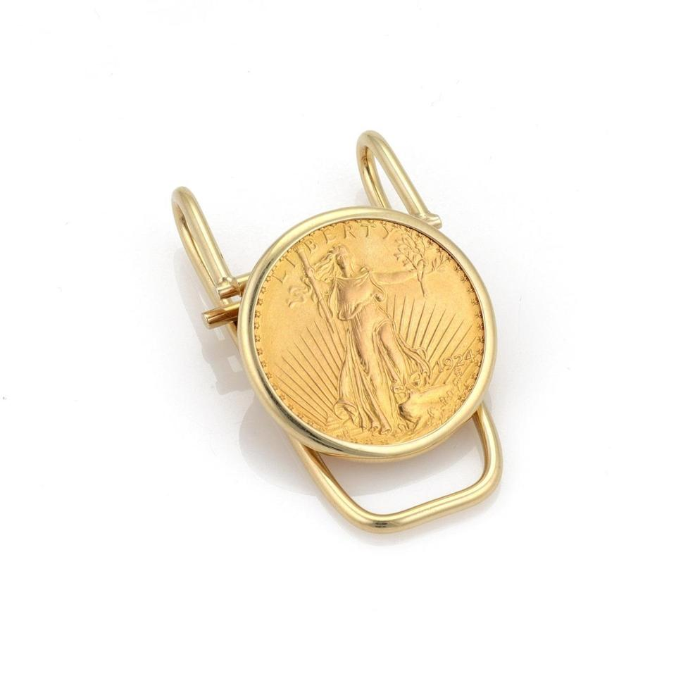 Vintage 22k 1924 Liberty Gold Coin 14k Gold Lever Wire Money Clip ...