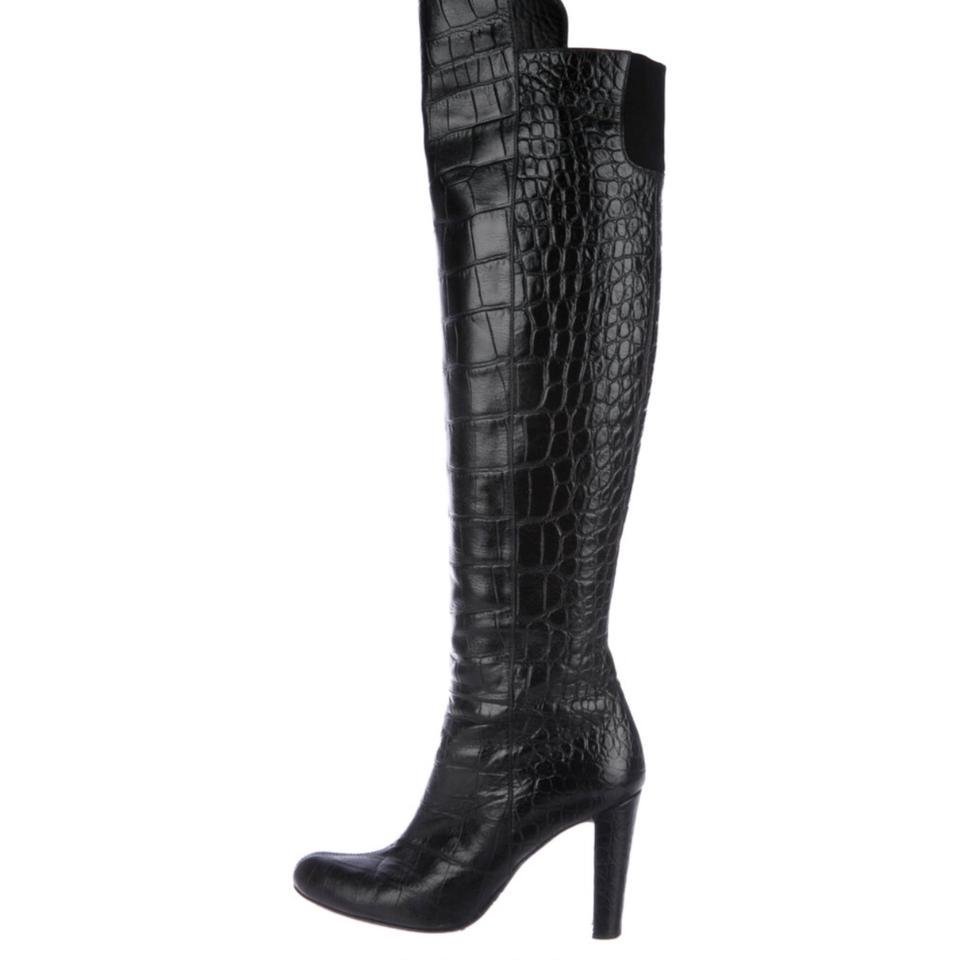 Stuart Weitzman Black Boots/Booties Embossed Over The Knee Boots/Booties Black ed8c70