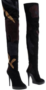 Burberry black brown blue multi Boots