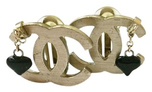Chanel Chanel Lt Gold CC Dangle Clip on Earrings