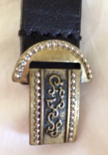 Chico's Chico's Adjustable Leather Belt with Sparkly Fittings