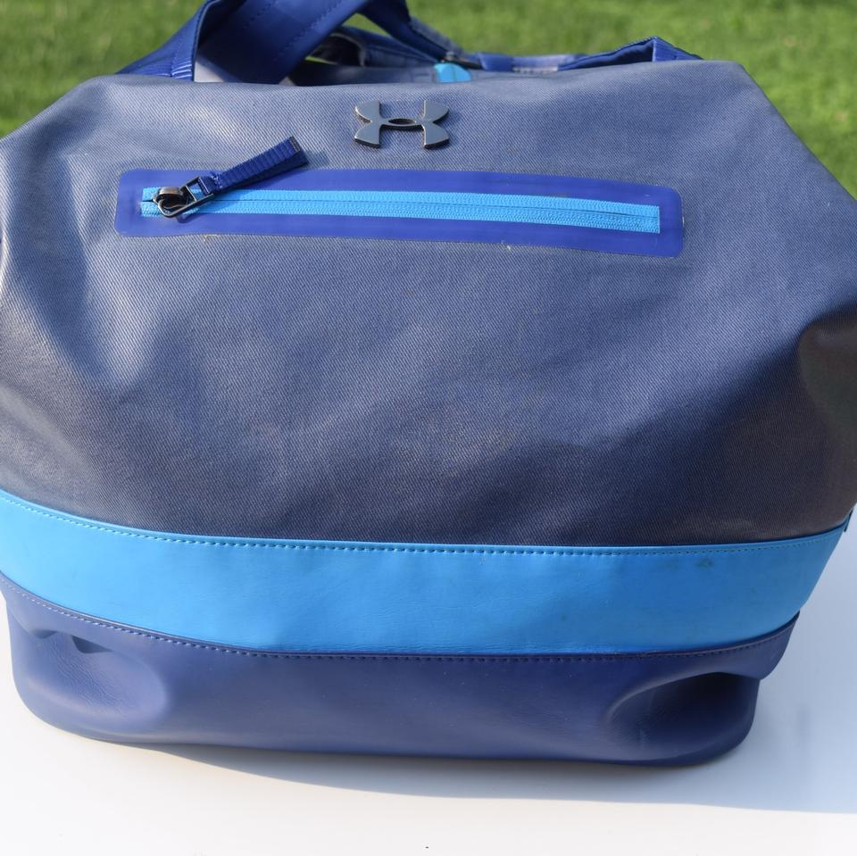 Under Armour Large Blue Coated Canvas Tote - Tradesy caf021b986a85
