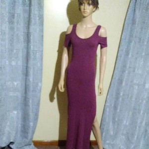 Purple Maxi Dress by Bozzolo