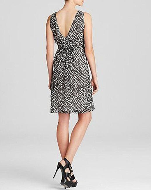 Burberry short dress Black-and-White Silk Black Cocktail on Tradesy Image 1