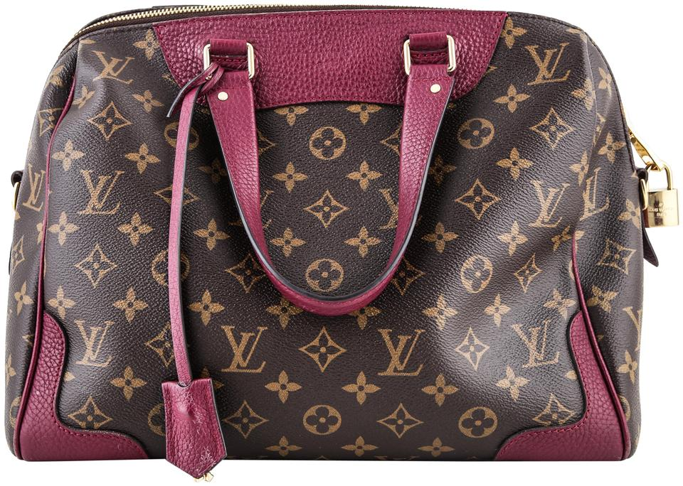 a3ce6e61d5b4 Louis Vuitton Retiro Monogram Burgundy Canvas Shoulder Bag - Tradesy