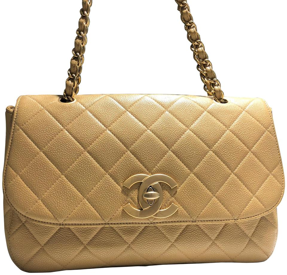 b46eb8c3c36fc9 Chanel Classic Flap Vintage Large Cc Gold Hardware Quilted Caviar ...
