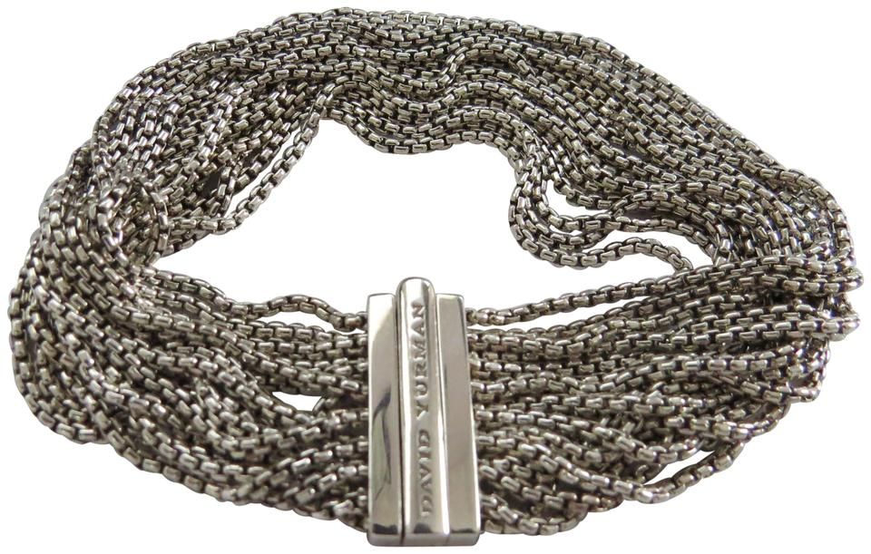 David Yurman 16 1 5mm Baby Box Sterling Silver Chain Bracelet