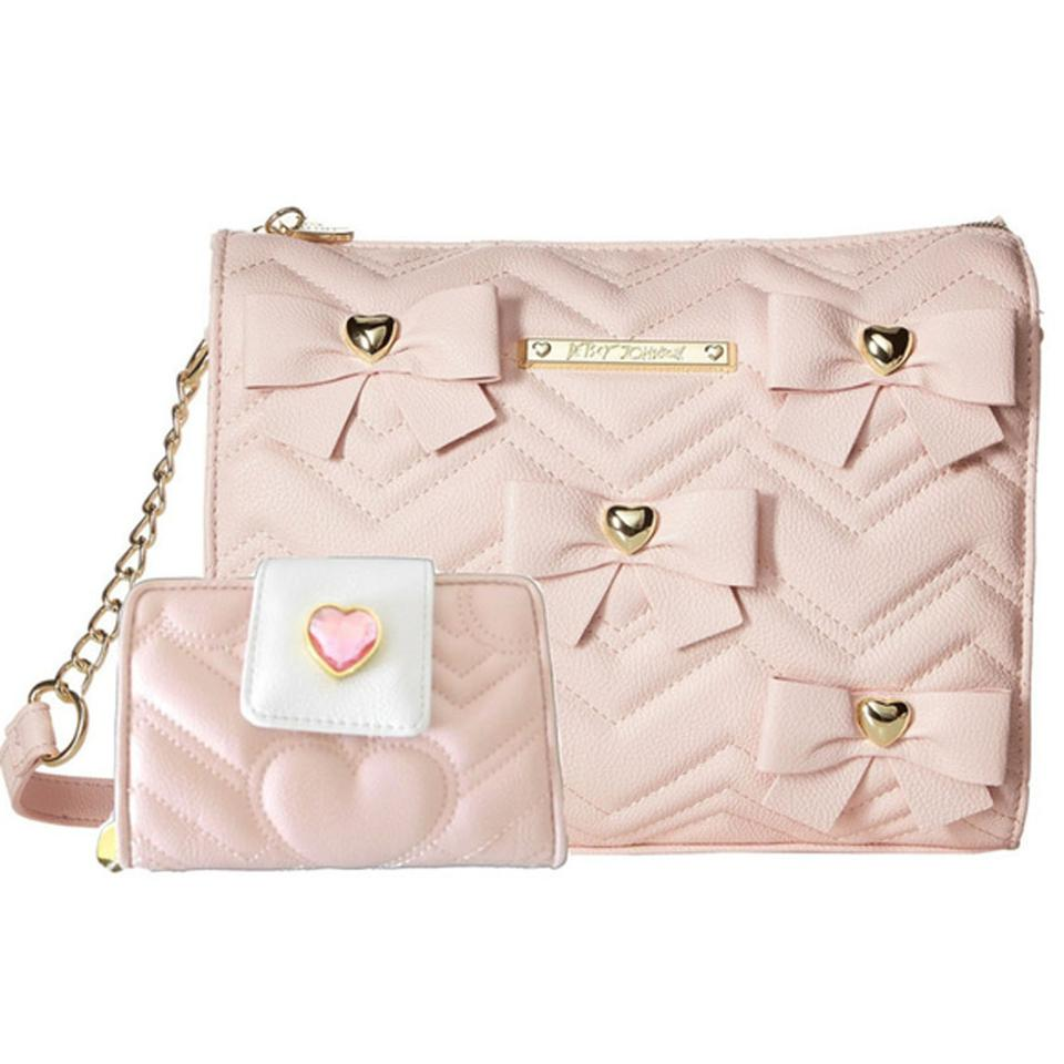 798924a81e Betsey Johnson Bows Quilted Fold Wallet Cross Body Bag Image 0 ...