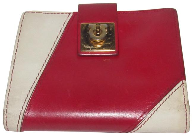 Item - Red and White Leather Vintage Wallet/Designer Wallet