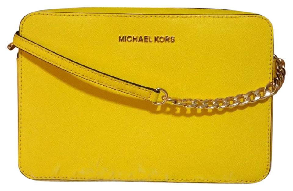 michael kors jet set travel large east west yellow saffiano leather rh tradesy com