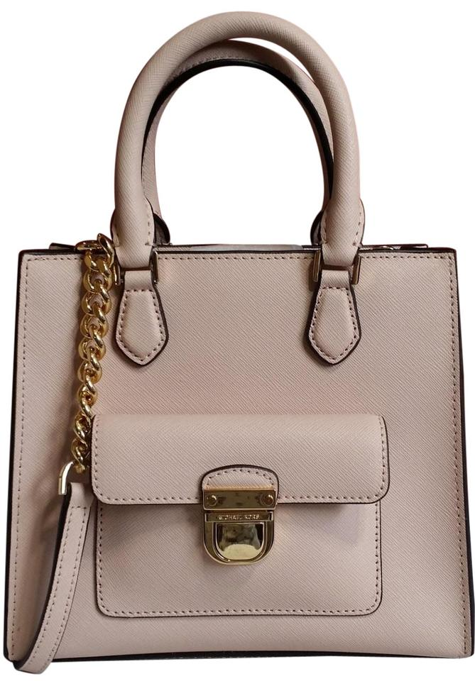 c091e383f6da Michael Kors Leather Satchel Dusty Rose 35f7gbdt1l Tote in ballet Pink gold  Image 0 ...