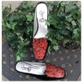 Icon Black with Red Roses Mules
