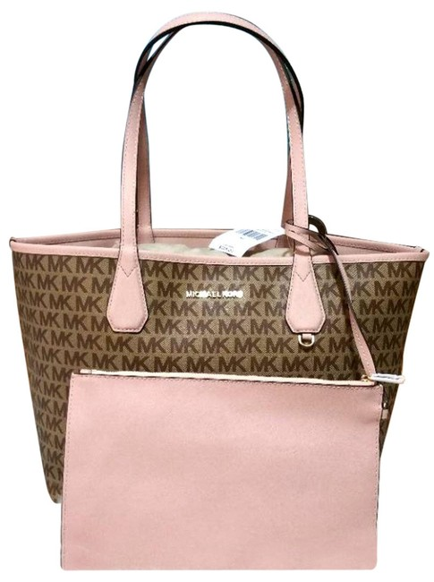 Item - Reversible Candy W Saige W/Pouch Pink Canvas Tote