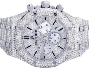 Audemars Piguet Mens Royal Oak 41MM Chronograph Full Iced Out VS Diamond 33.0 Ct
