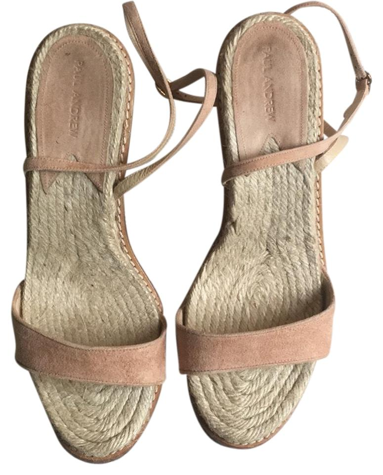 a24fe93a59dc Paul Andrew Blush Suede Espadrille Sandal Wedges Size EU 38 (Approx ...
