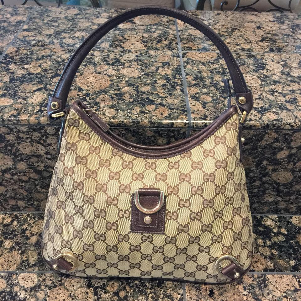 febc5d085a2 Gucci Soho Creme Leather Gg Horseshoe D-ring Pre Owned Beige and ...