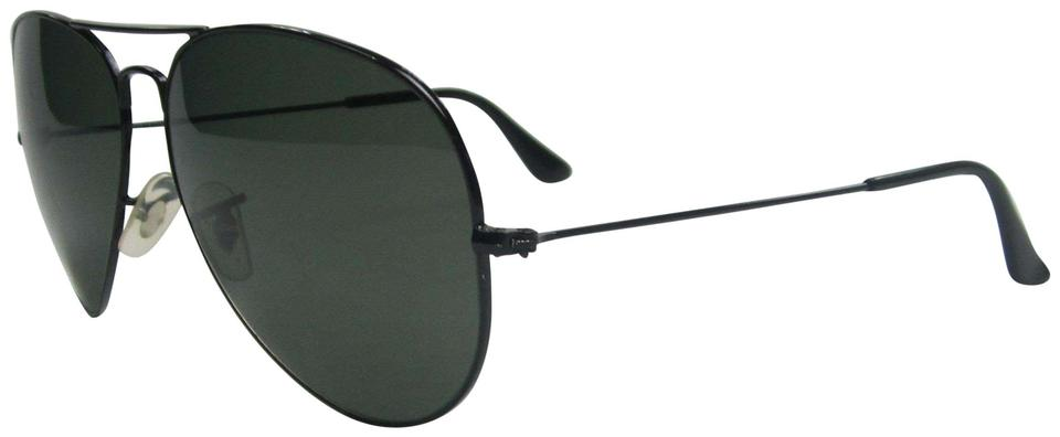 9576e42803 Ray-Ban Black/Green Made In Italy Aviator Rb3025 002/58 Polar ...