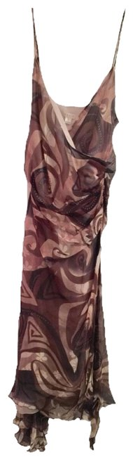 Item - Brown / Beige / Style # Ch 20039 Mid-length Cocktail Dress Size 4 (S)