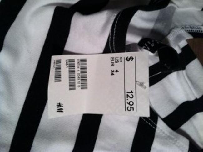Divided by H&M short dress Navy and White Stripes on Tradesy