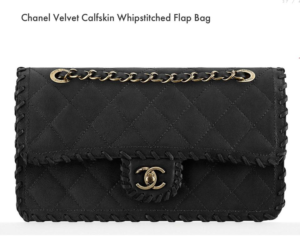 dc1f6de886f2 Chanel Classic Flap 2015 Velvet Calfskin Whipstitched Green Leather  Shoulder Bag