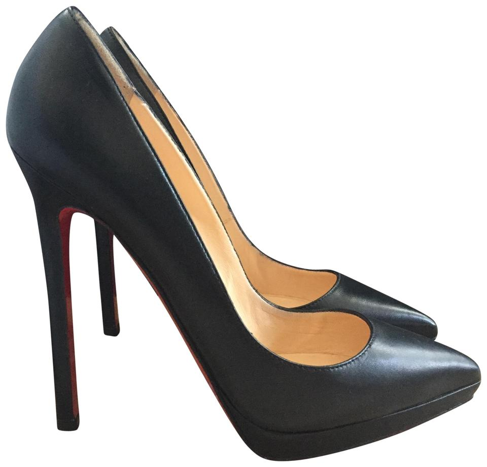 best service 0dd3c 44a2d Christian Louboutin Black Leather Pigalle Plato 140 Platforms Size EU 35.5  (Approx. US 5.5) Narrow (Aa, N) 20% off retail