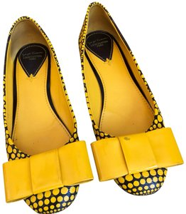 Louis Vuitton monogram yellow and brown Flats