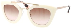 Prada Prada Women's Cinema White Cat Eye Aviator Sunglasses SPR09Q