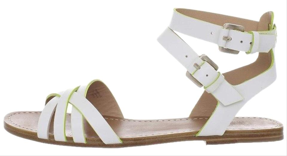7ee7a678f Belle by Sigerson Morrison White with chartreuse detail Sandals Image 0 ...