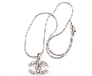 Chanel Chanel Silver CC Rocky Clear Crystal Necklace