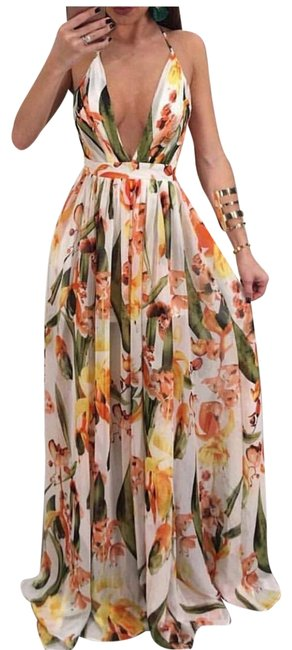 Item - Floral Color Any Long Casual Maxi Dress Size 8 (M)