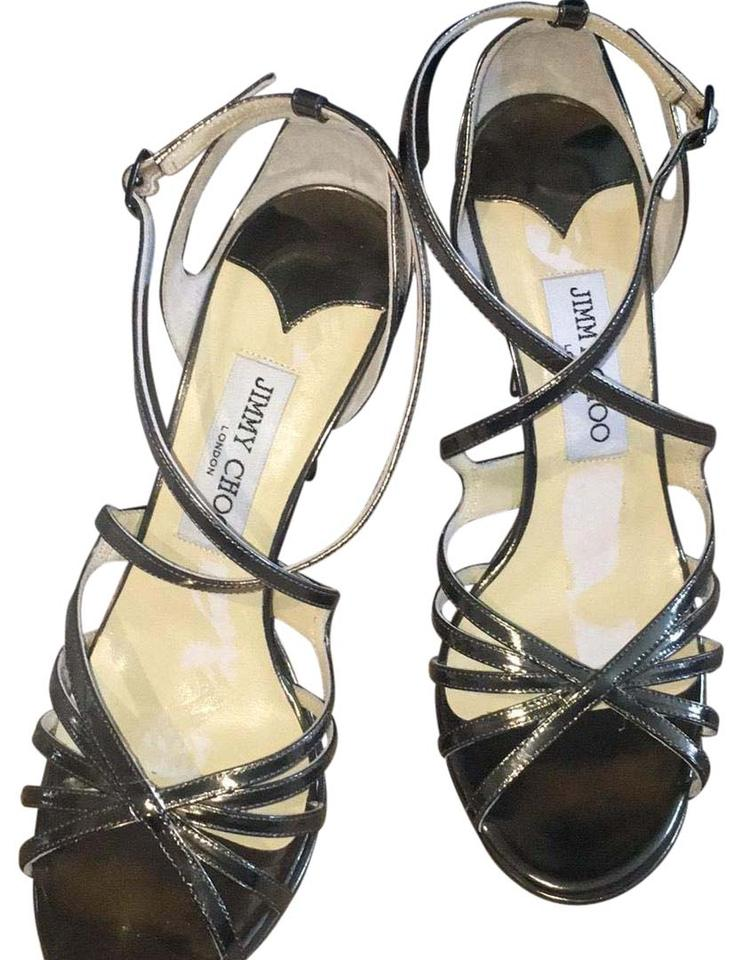 Jimmy Choo Choo Jimmy Silver 102 Glacier Sandals 63f2de