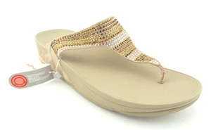 FitFlop New Rhinestones Luxe Strobe Luxe Gems Gold Sandals