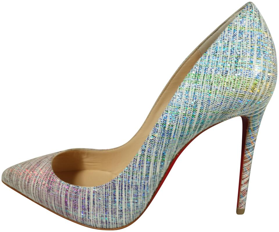 ee61c163104 Christian Louboutin Multi-colored Pigalle Follies 100 Suede Unicorn Point  Toe High New Pumps. Size  EU 36 ...