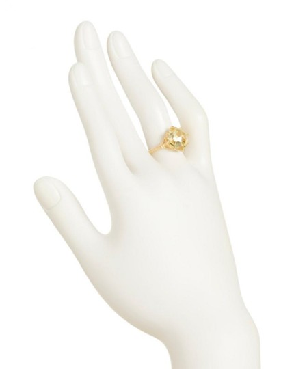 Judith Ripka JUDITH RIPKA 14k Gold Plated Sterling Silver Canary Crystal Ring Image 2