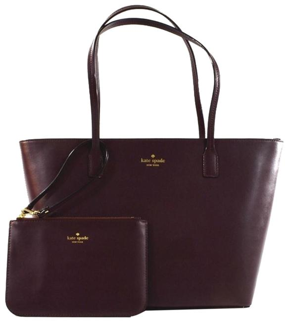 Item - Small Harmony with Matching Wristlet Mahogany Leather Tote