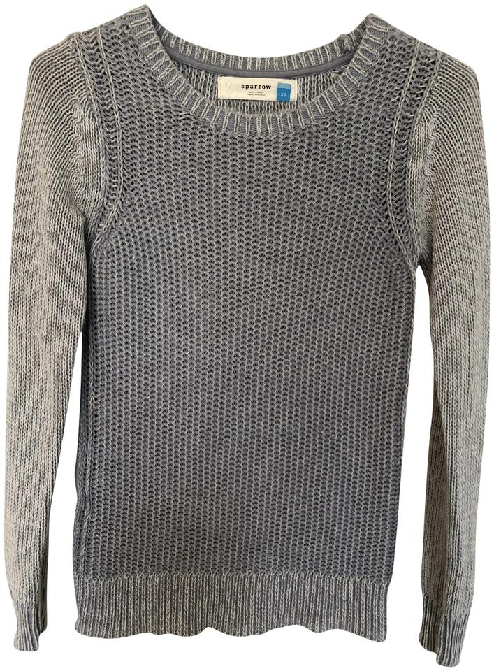 dc8619b9c1 Anthropologie Sparrow Knit Blue Sweater - Tradesy