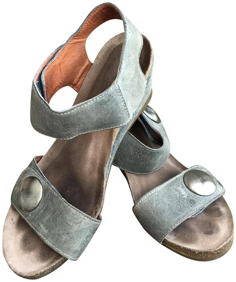 e6a05c0e38ff Taos Footwear Blue Gray Carousel 2 Leather In - Sandals Size EU 39 (Approx.  US 9) Regular (M