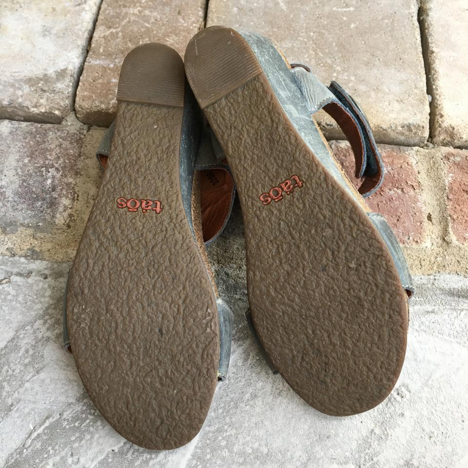 dc3d246c4 Taos Footwear Blue Gray Carousel 2 Leather In - Sandals Size EU 39 ...