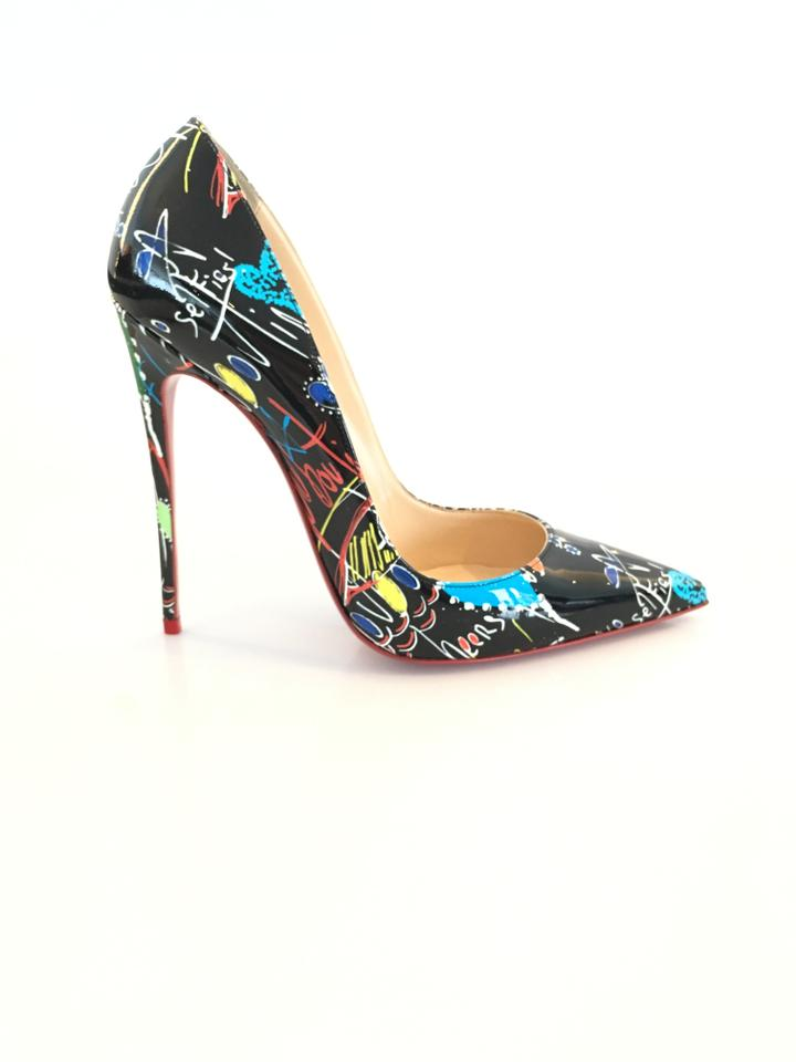 95d2cfdc5d5 Christian Louboutin Black   Multi So Kate 120 Pat Loubitag Pumps ...