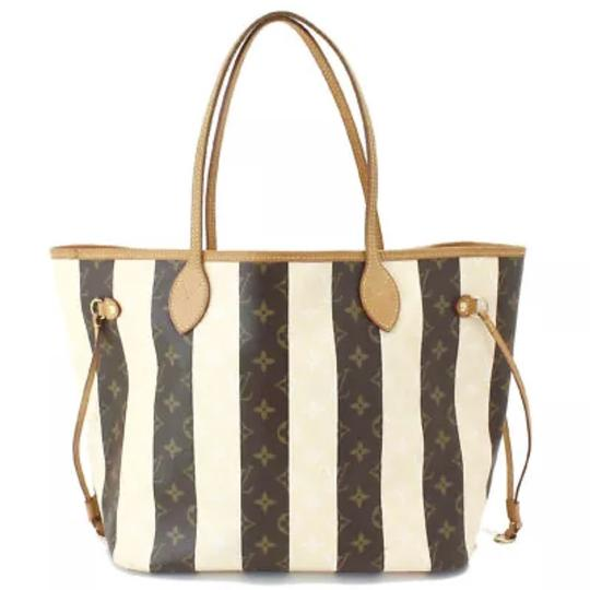 Preload https://img-static.tradesy.com/item/23556497/louis-vuitton-neverfull-rayures-mm-sold-out-rare-shoulder-monogram-striped-creme-and-brown-canvas-co-0-0-540-540.jpg
