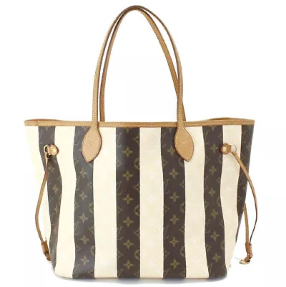 4f48e80c624a Louis Vuitton Artsy Ebene Azur Speedy Damier Tote in Monogram Striped Creme  and Brown Image 0 ...